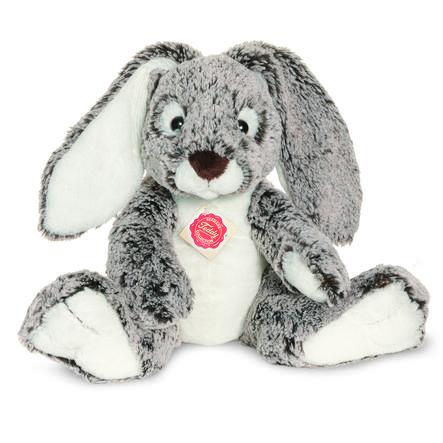 HERMANN® Teddy Peluche lapin gris/blanc, 28 cm