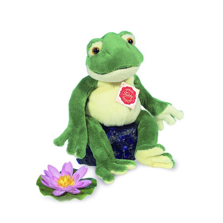 HERMANN® Teddy Peluche grenouille verte, 28 cm