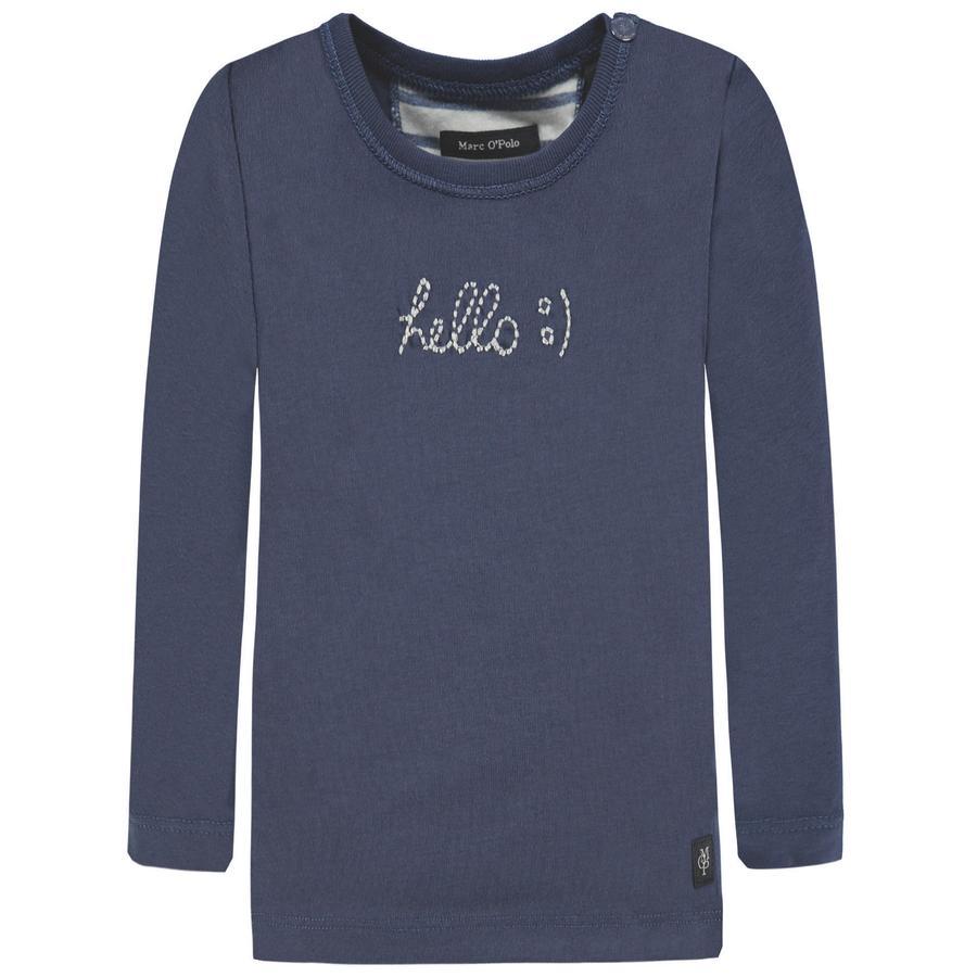Marc O'Polo Boys overhemd met lange mouwen, blauw