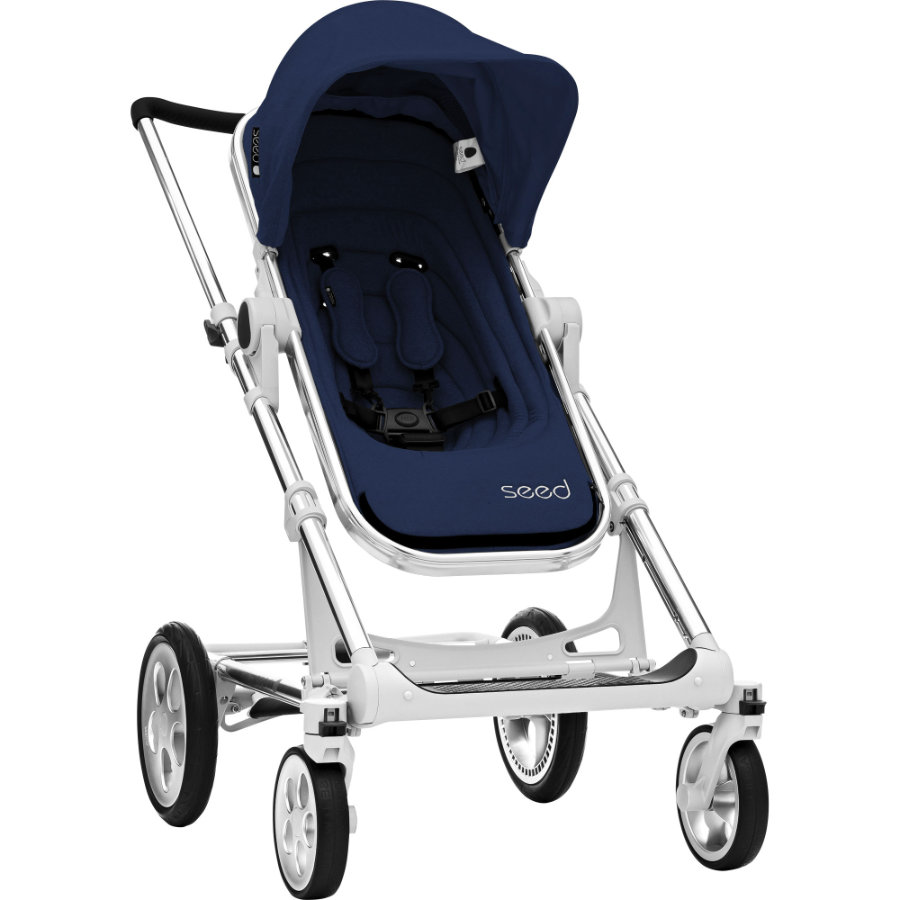 BRITAX Seed Papilio Silver, dark navy / black leather 2019