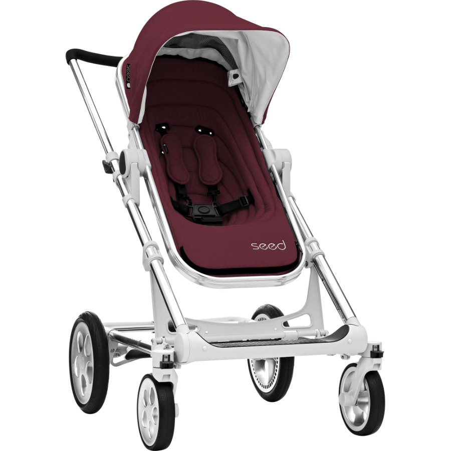 BRITAX Seed Papilio Silver, marsala / black leather 2019