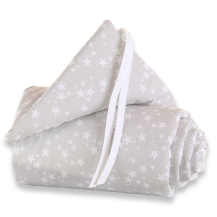BABYBAY Sengerand Original stjerner hvid