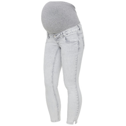 mama licious Umstandsjeans MLDETROIT Light Grey Denim