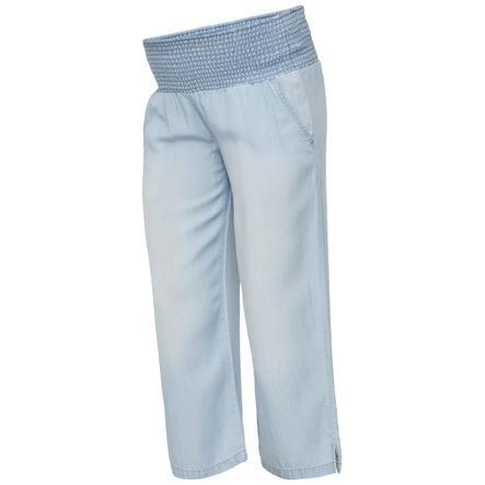mama licious Gravid bukser MLELIANA Light Blue Denim