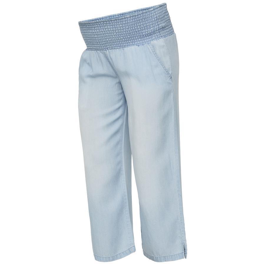 mama licious Pantalon de maternité MLELIANA Bleu ciel Denim