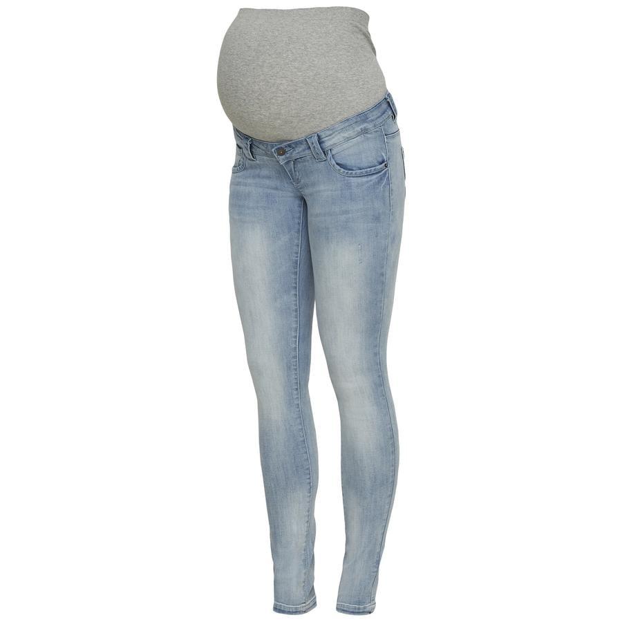 mama licious Jeans de maternité MLVERIA Bleu ciel Denim MLVERIA