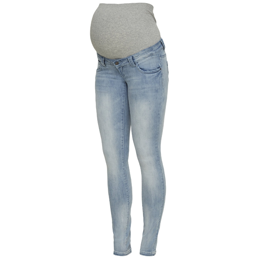 mama licious Umstandsjeans MLVERIA Light Blue Denim