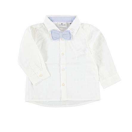 TOM TAILOR Boys Hemd mit Fliege soft clear white