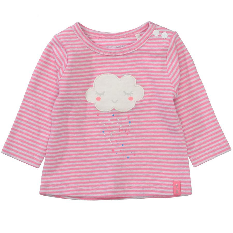 STACCATO Girl s camisa de manga larga estructura rosa brillante