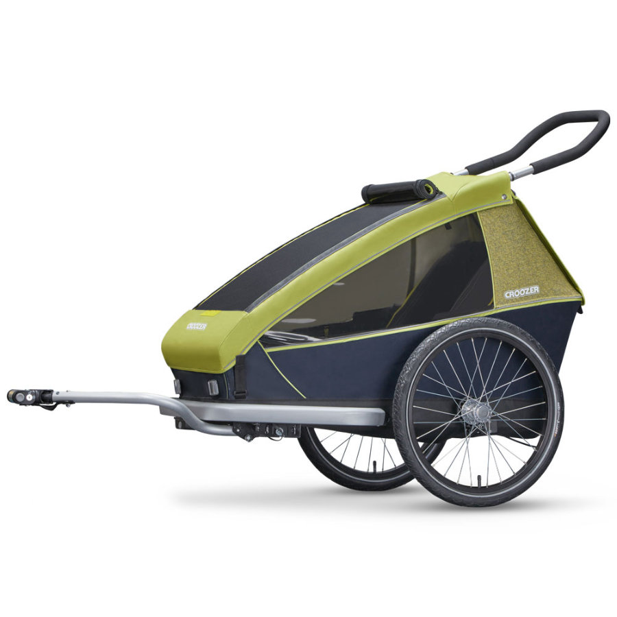 CROOZER Kinderfahrradanhänger Kid for 1 Lemon green