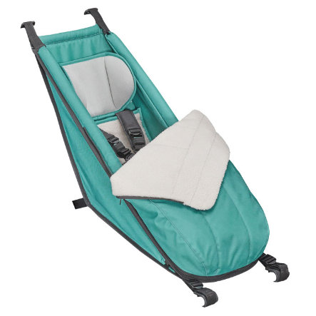 CROOZER Babysitz Arctic green inklusive Winter-Set