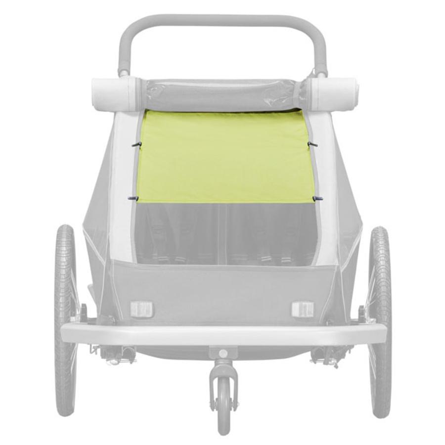 CROOZER zonnekap Lemon Green voor tweezitters