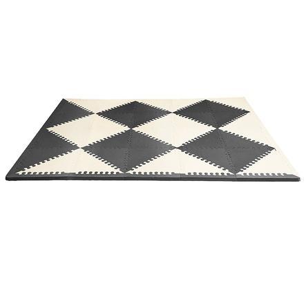 SKIP HOP tappeto da gioco in schiuma Playspot nero/crema