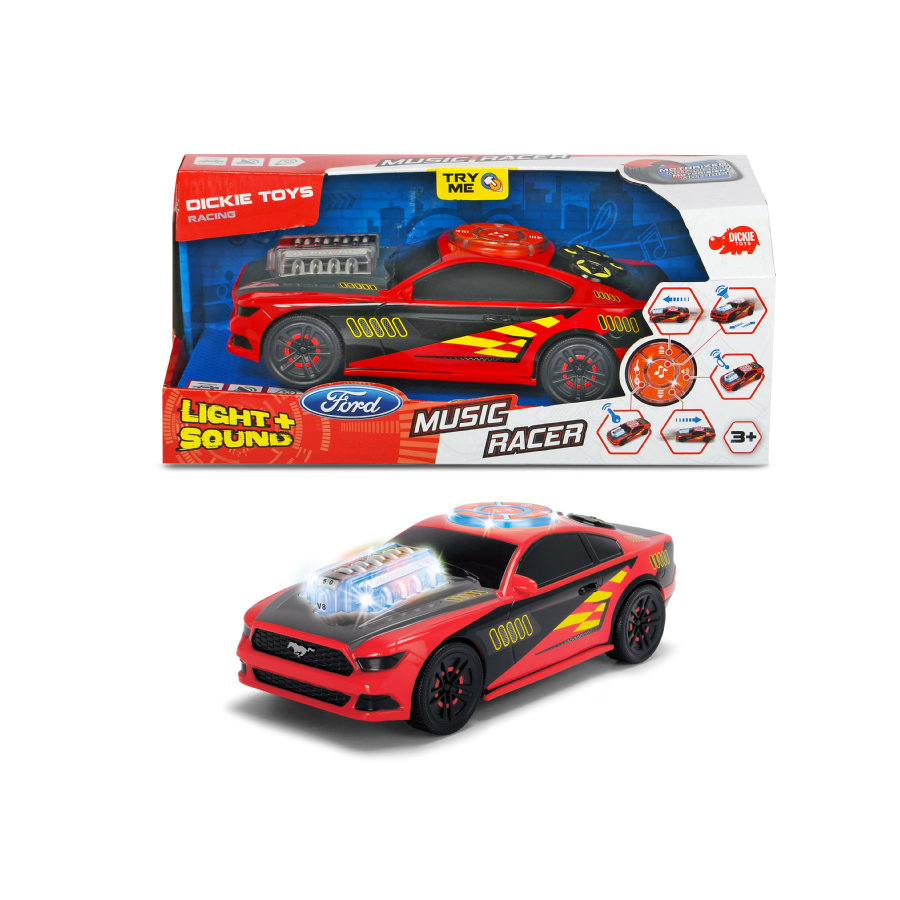 DICKIE Toys Ford Mustang Music Racer