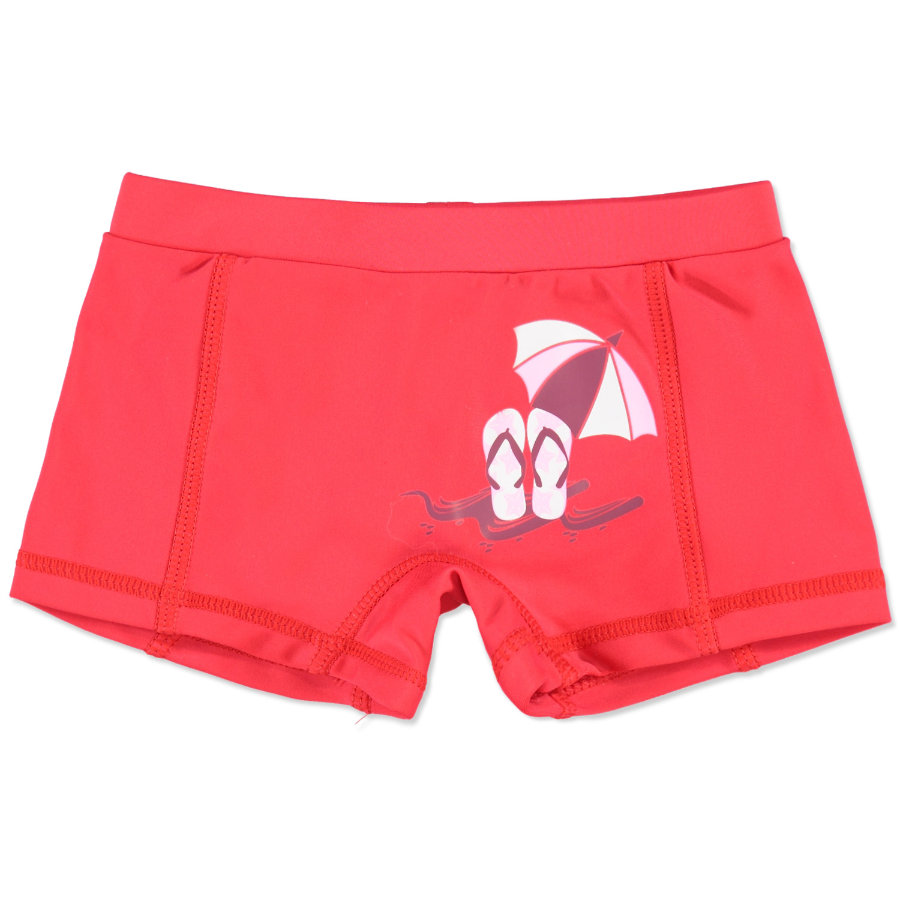 anna & tom Girls Short de bain à protection UV, rouge