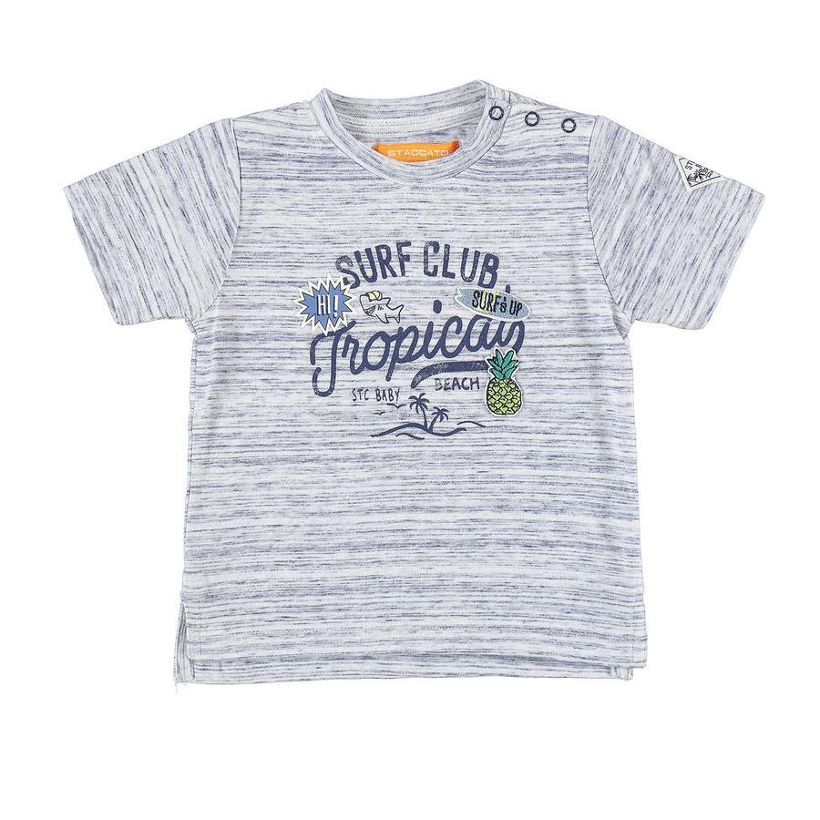 STACCATO Boys T-Shirt mit Struktur dunkelblau