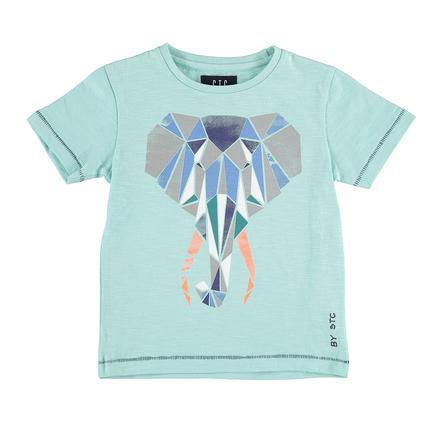 STACCATO Chłopcy T-Shirt Słonie zielony akwa-zielony słoń