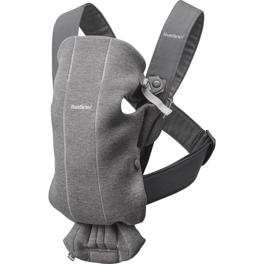 BABYBJÖRN Babytrage Mini Dunkelgrau 3D Jersey