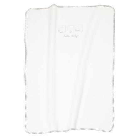 ALVI Baby Blanket Embroidery Hello Baby white