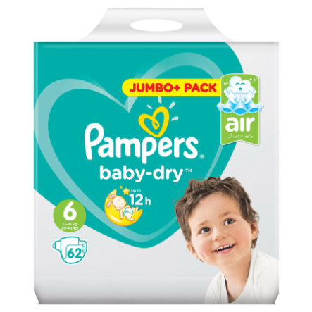 Pampers Baby Dry Gr. 6 Jumbo Plus Pack 13-18kg 62 Stück