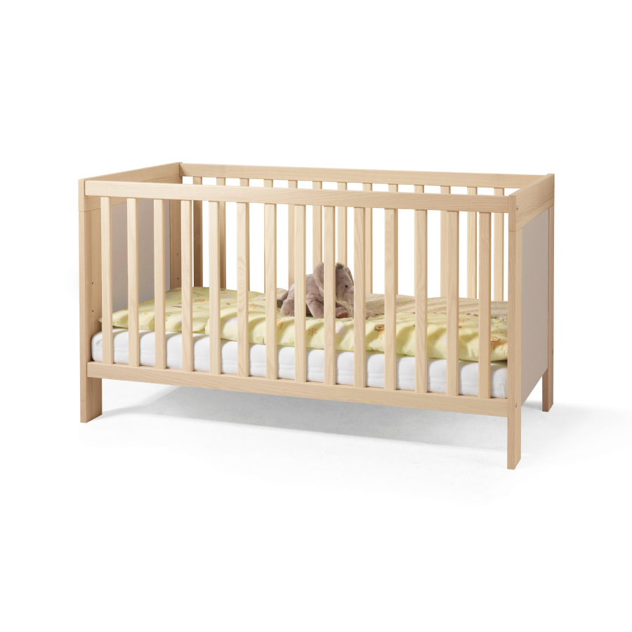 WELLEMÖBEL Kinderbett Lasse Sandgrau - babymarkt.de