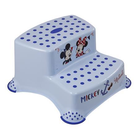 keeeper Tritthocker zweistufig mit Anti-Rutsch Funktion Mickey light blue