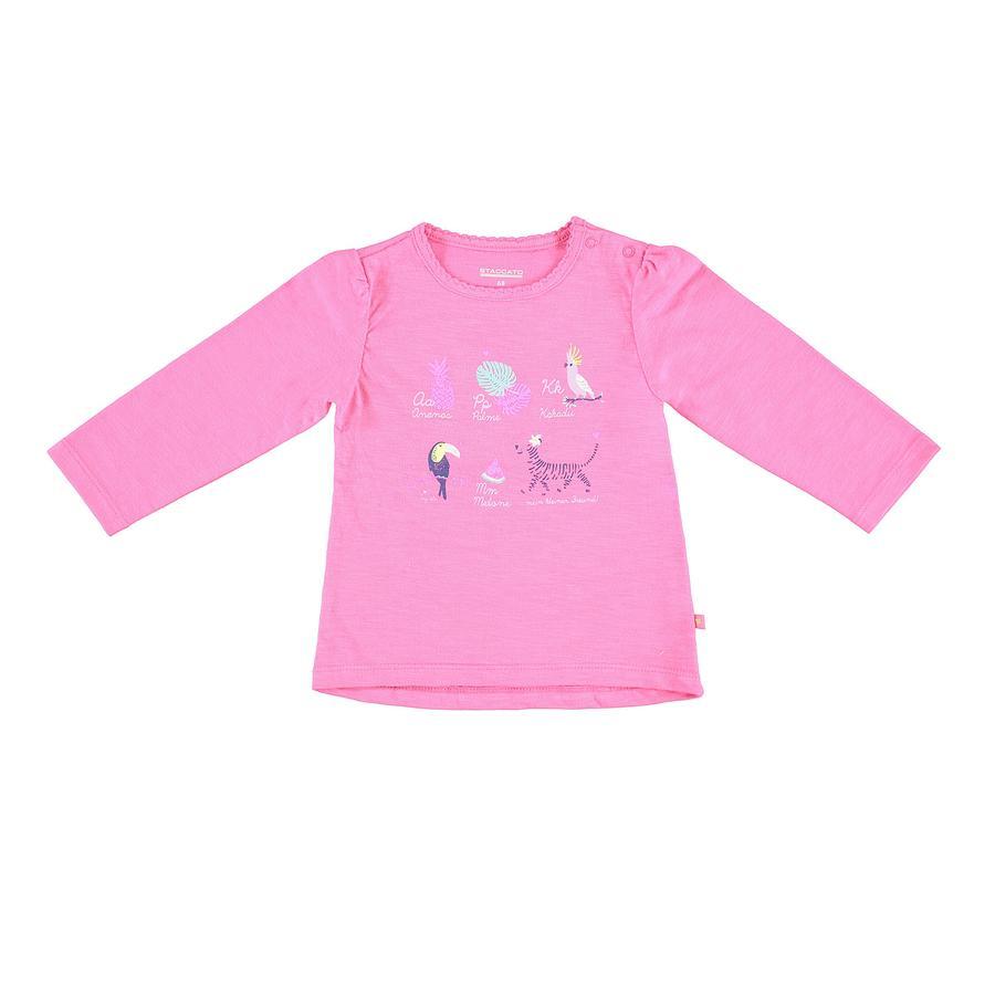 STACCATO Girl s camisa de manga larga flamingo