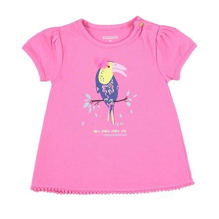 STACCATO Girl T-Shirt różowy z tukanem.