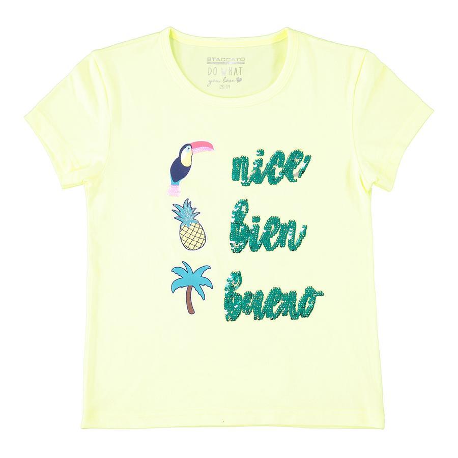 STACCATO Girl s T-Shirt neonowy żółty