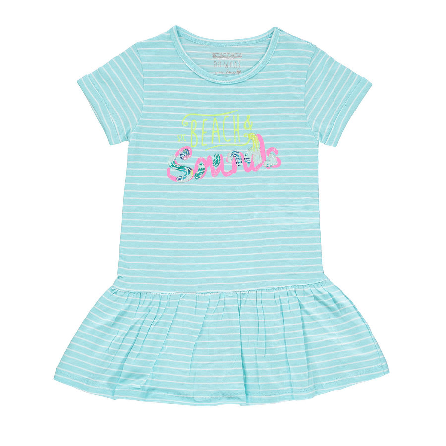 STACCATO Girl s jurk aqua strepen