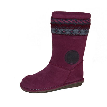CLARKS Girls Boty SNUGGLE HUG berry