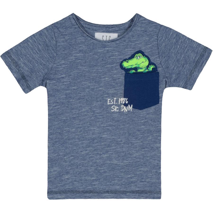 STACCATO Boys T-Shirt structure de l'encre slimfit