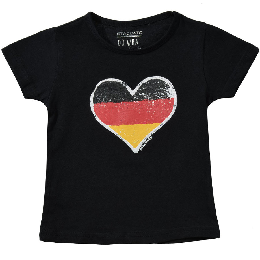 STACCATO Girls T-Shirt schwarz