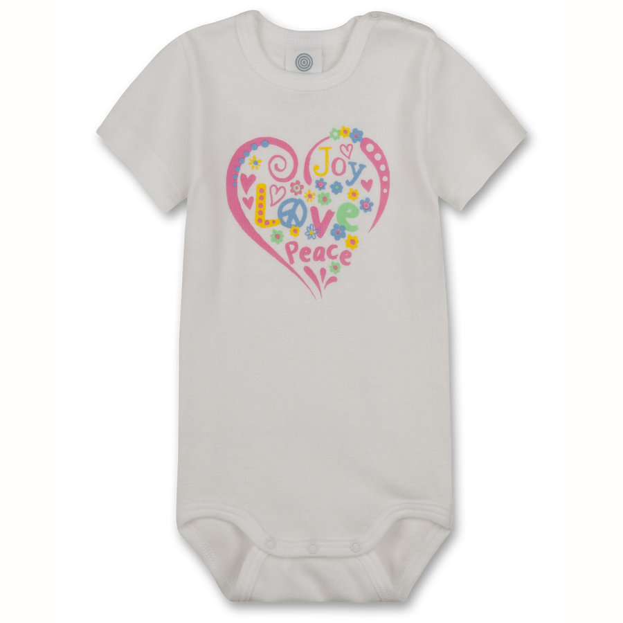 SANETTA Girls Baby Body 1/4 Arm white
