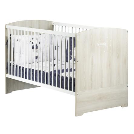 Baby Price Lit bébé évolutif Smile  70 x 140 cm hêtre cendré