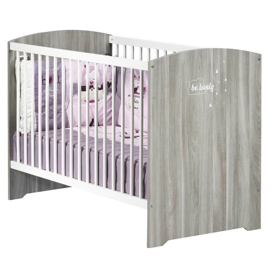 Baby Price Lit bébé Smile 60 x 120 cm, chêne silex