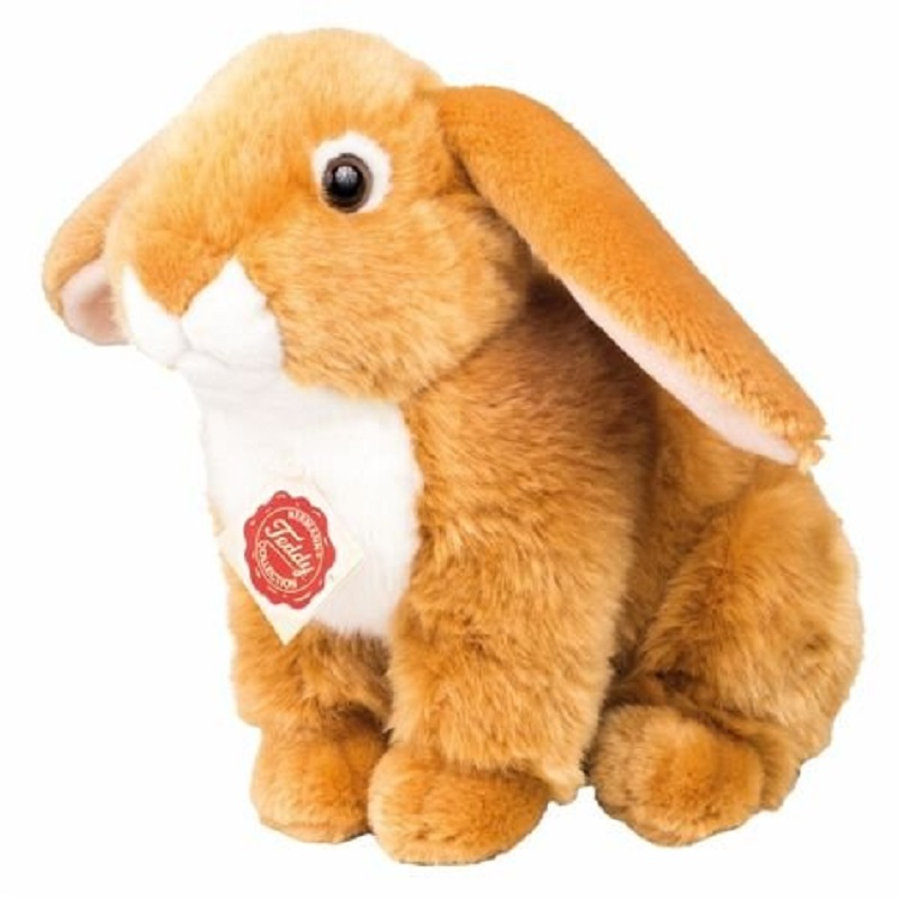 HERMANN® Teddy Peluche lapin assis brun clair, 21 cm