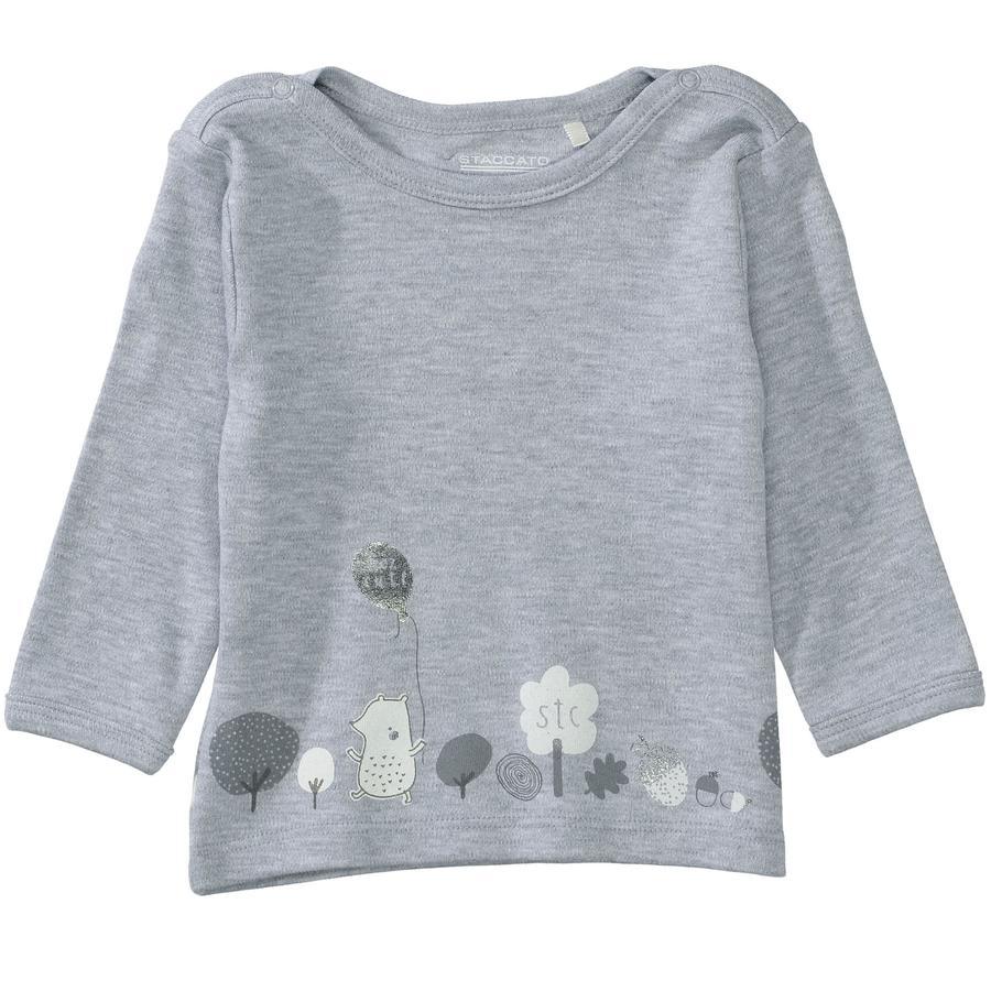 STACCATO Overhemd met lange mouwen grijs gemêleerd