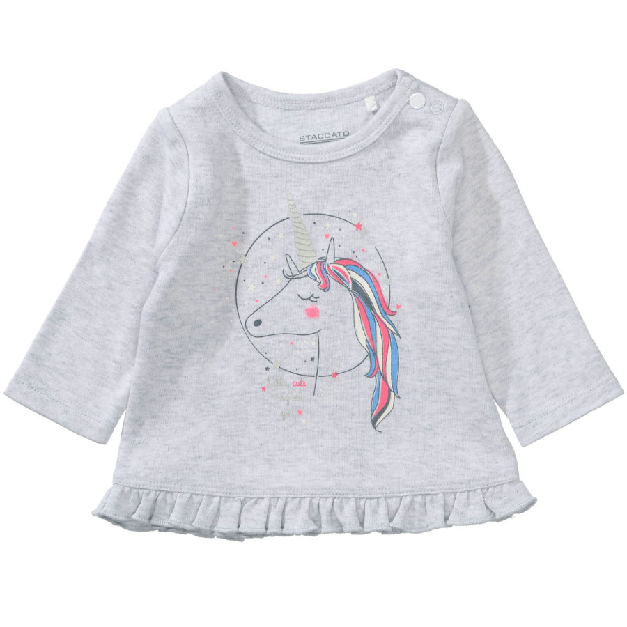 STACCATO Girl s Overhemd met lange mouwen lichte steenmelange