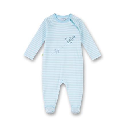 Sanetta Schlafanzug Streifen blue ice