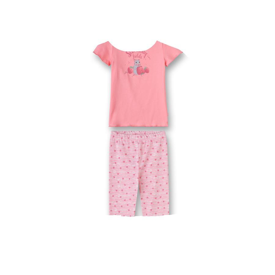 Sanetta Pyjama Erdbeere und Maus koralle