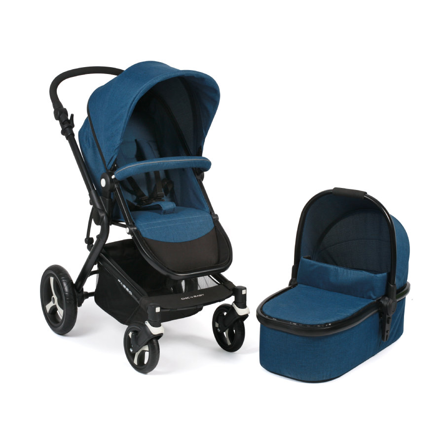 chic 4 baby kombi kinderwagen passo melange blue baby. Black Bedroom Furniture Sets. Home Design Ideas