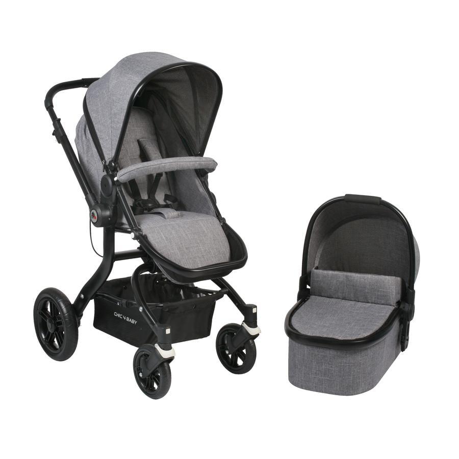 CHIC 4 BABY Kombi-Kinderwagen TANO Jeans grey