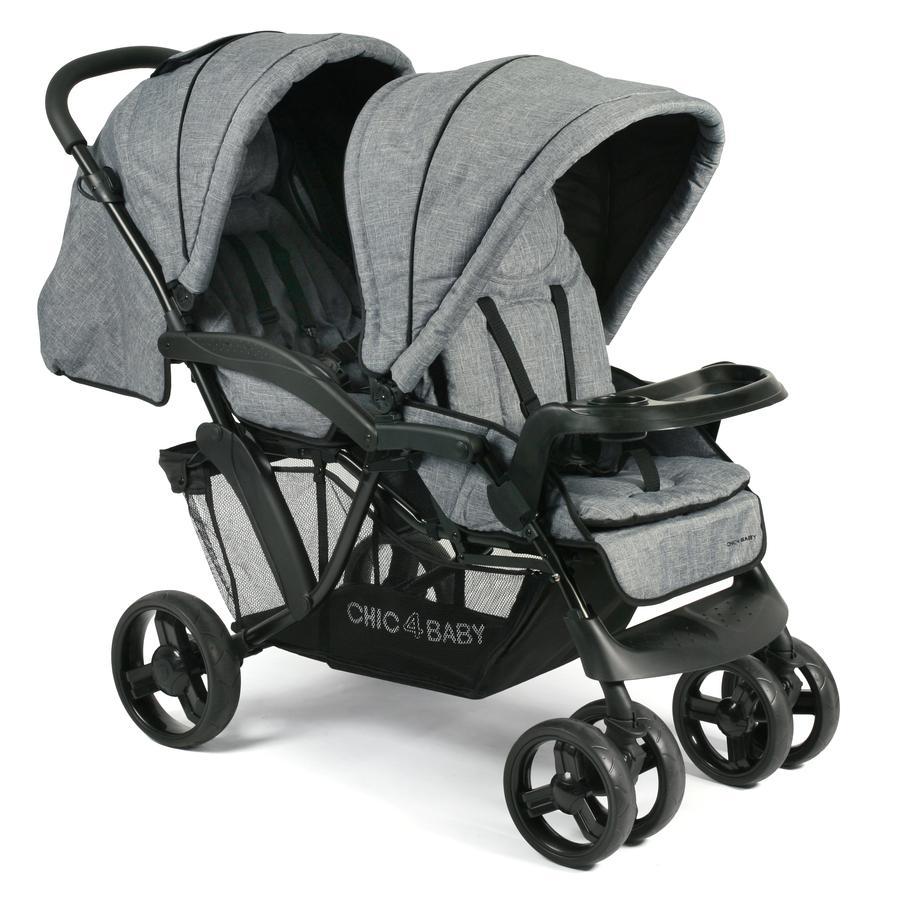 CHIC 4 BABY Wózek dla rodzeństwa DOPPIO Jeans blue