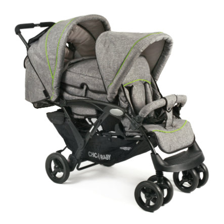 CHIC 4 BABY DUO søskenvogn Jeans grey