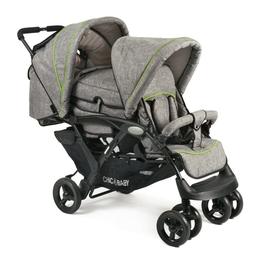 CHIC 4 BABY Syskonvagn DUO Jeans grey