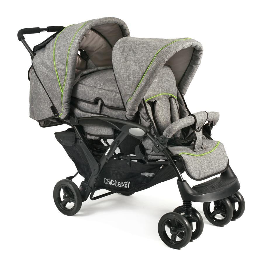CHIC 4 BABY Wózek dla rodzeństwa DUO Jeans grey