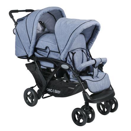 CHIC 4 BABY Geschwisterwagen DUO Jeans hellblau