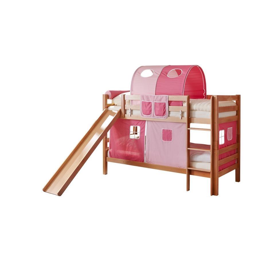 Ticaa letto a castello con scivolo lupo nature rosa pink - Letto a castello prezzo ...