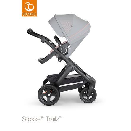 STOKKE® Kinderwagen Trailz™ Black/Black mit Geländerädern und Sportwagenaufsatz Athleisure Pink